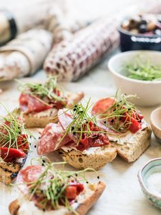Beer Bread Bruschetta with Salami - it's what light summer meals should be!