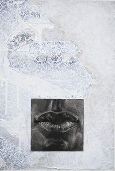 """Totem (White)  mixed media  19"""" x 13""""  JBarberStudio - Weekly Art - Week4"""