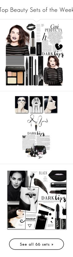 """Top Beauty Sets of the Week"" by polyvore ❤ liked on Polyvore featuring beauty, Whiteley, Bobbi Brown Cosmetics, Chanel, Trish McEvoy, Beauty, LIPSTICK, makeup, trend and darklips"