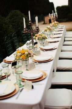 A wedding reception in Tuscany - I still love anything about weddings!