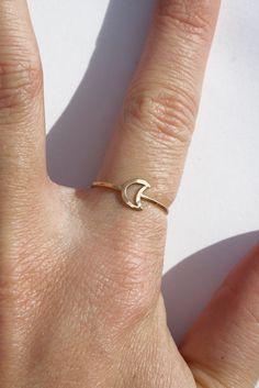Gold Moon Ring INNNNN LOVEE