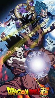 Gohan, Vegeta, Goku, Android and Golden Frieza Dragon Ball Gt, Photo Dragon, Dragonball Super, Goku Super, Films Marvel, Manga Dragon, Anime Shows, Anime Comics, Animes Wallpapers