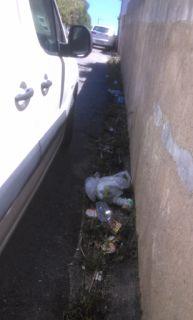 O Palhetas na Foz: Lixo numa rua que não é varrida há quase um mês!