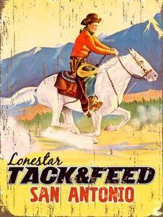 Lonestar Tack & Feed Custom Sign: Custom Vintage Signs