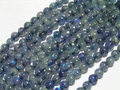 Spectrolite blue labradorite smooth rounds 3 to 4mm