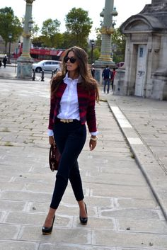 I love how structured the jacket is. Bringing so many styles together to create a gorgeous sophisticated look!