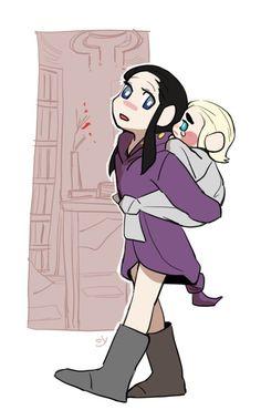 Элронд и Трандуил в детстве