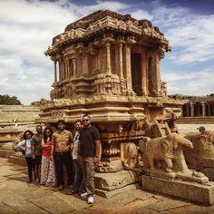 The iconic stone chariot at Hampi  Hampi - Former Great Vijaya Nagar Empire.  One of the best places to learn something out of our vast Indian history based on the great Vijaya Nagara Empire. The great Krishnadevarya & the famous Tenali Raman were based here.  #hampi  #hampidiaries #karnataka #The3HungryMen #T3HM #travel #travelgram #traveldiary #traveldiaries #roadtrip #roadtrips #roadtripping #india #traveller #wanderlust