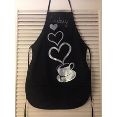 Handpainted personalized aprons. I freehand the requested design on there and use a brush to paint.