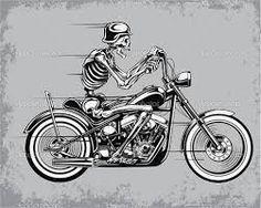 Resultado de imagem para caveira motociclista