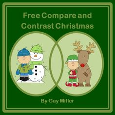I hope you will enjoy this set of activities for teaching comparison and contrasting writing. This packet includes the following:o Key Words for Comparing and Contrasting Charto 3 Methods for Writing a Compare and Contrast Essayo A Turn Around Upside Down Book (The first half is the story behind Rudolph the Red-Nosed Reindeer and the second half tells the story behind Frosty the Snowman.) oVenn Diagram Type Organizer to Use when Comparing and Contrasting  Rudolph to Frosty