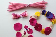 make felt flower tiaras