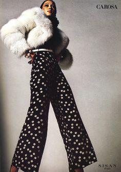 Pat Cleveland for Carosa, 1972.