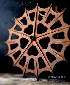 Image of Antique Cast Iron Industrial Wheel