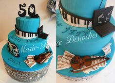 Musical Birthday Cakes #cake #music #dessert