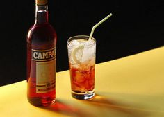 A traditional Negroni cocktail.