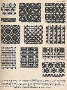 """petitepointplace: """"Icelandic knitting patterns for mittens. They'd be great for cross stitch as well. Fair Isle Knitting Patterns, Knitting Charts, Knitting Designs, Knitting Stitches, Knitting Projects, Knitting Yarn, Punto Fair Isle, Motif Fair Isle, Mittens Pattern"""