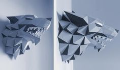 PAPERMAU: Game of Thrones - Stark House Wolf Sigil Papercraft - by Gedelgo