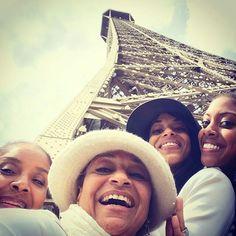 Phylicia rashad, condola rashad, debbie allen and vivian nixon in Paris 2014  (twitter: @msdebbieallen)