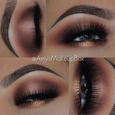 Copper Smokey Eye Makeup Look