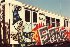 Great old Sane throwback from the New York Subway days. Burning the train up with assistance from a wizard.