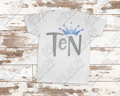 Ten Year Old Birthday Star Crown Cut File in SVG, EPS, DXF, JPEG, and PNG