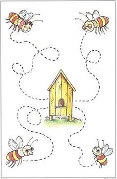 de bijen vliegen