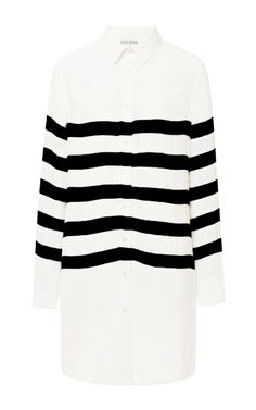 Long Silk and Chiffon Striped Shirt by Each X Other Now Available on Moda Operandi