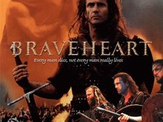 Braveheart, director y protagonista Mel Gibson William Wallace, Mel Gibson, Watch Hollywood Movies, Heart Graphics, Inspirational Quotes For Teens, War Film, Sophie Marceau, Braveheart, Christian Music