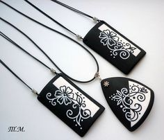Polymer clay pendants                                                                                                                                                     More