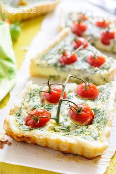 Cherry Tomato Tart -