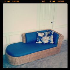 Price Reduced, 1970's Rattan Wicker Chaise Lounge Retro 70's Indoor Furniture…