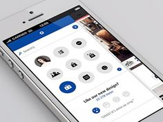 Dribbble. Mobile. App. Interface. UI UX. White & Blue. Clean. New. Modern. Flat. Design. Cool. Circles. Graphics. iPhone. Apple. iOS.