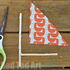 Simple Driftwood Crafts - Sail boats