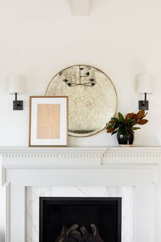Shop Wilfred Antique Mirror, Sketched Figure, Issa Jar, Ojai Single Sconce and Mantel Styling, Software, Woven Shades, Floor Standing Lamps, Studio Mcgee, Bedroom Photos, Pop Up Shops, Floral Pillows, Round Mirrors