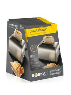 Boska's bestselling toastabags are a no-mess, easy and fast solution for grilled cheese lovers. No more crumbs, no clean up, and easy enough even for kids! Also a sustainable solution, the bags can be reused up to 50 times & are dishwasher safe. Three bags per pack.