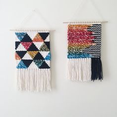 Rainbow Geometric Weaving Woven Wall Hanging by SheLovesLife