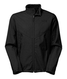 Men's The North Face Chromium Thermal Jacket Black Size X-Large. Water-resistant, windproof soft-shell jacket is finished with a luxe, high-pile raschel fleece lining. TNF Apex ClimateBlock fabric rated at 0 CFM (100% windproof). Brushed collar top edge lining. Secure-zip hand pockets. Molded cuff tabs.
