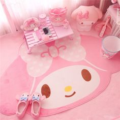 Kawaii Bowknot My Melody Kitty Pink Carpet Crawling Blanket Cartoon Mat Hello Kitty Bedroom, Cat Bedroom, Bedroom Decor, Bedroom Ideas, Carpet Mat, Pink Carpet, Rugs On Carpet, Carpet Runner, Hotel Carpet