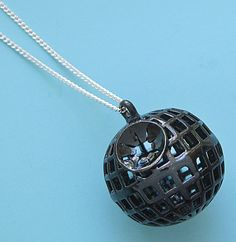 Star Wars Death Star Globe Necklace by sudlow on Etsy, $85.00
