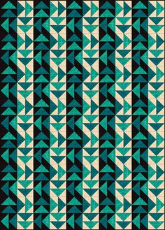 """Strippy Set Dutchman's Puzzle Quilt Pattern This quilt is assembled by placing Dutchman's Puzzle quilt blocks into a vertical stripy setting...Blocks finish at 8"""" x 8"""", and the quilt shown here measures 40-1/2"""" x 56-1/2"""" (which includes the width of the binding)."""