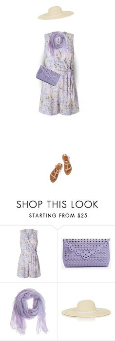 """""""Lilac Floral Romper"""" by daiscat ❤ liked on Polyvore featuring Miss Selfridge, K. Jacques, JustFab, Faliero Sarti and Barneys New York"""