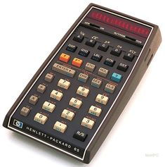 """First introduced by Hewlett-Packard as a """"Personal Computer,"""" the HP 65 calculator allowed users to either buy programs on pre-programmed cards or write programs up to 100 lines long and record them on blank cards. The device featured user-definable keys  and was the first HP pocket calculator with base conversions (octal and decimal). The calculator cost $795 when it launched in 1974. It became the first handheld calculator in space in 1975."""