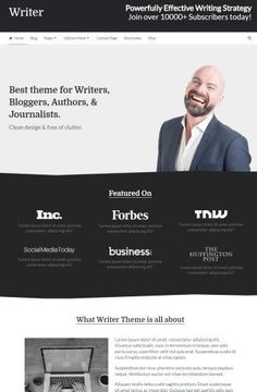 Writer Mythemeshop : WordPress Theme for Writers and Bloggers http://www.wordpressthemereviewdesk.com/writer-mythemeshop/ #WordPress