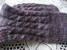 Twilled Stripe Rib Socks pattern by Karen Kahane