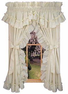 ruffled curtain ideas on pinterest priscilla curtains
