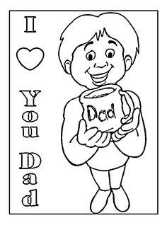 Homework Dad Printable Coloring Page