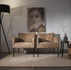 Woonwinkel Alle Pilat - Leren fauteuil RAKKER in taupe kleur leer met zwarte of houten poot #woonwinkelallepilat #fauteuil #leer #interieur #inspiratie