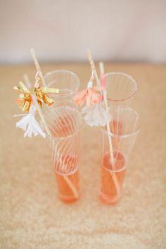 Tassel stirrers: http://www.stylemepretty.com/2015/04/20/diy-decorative-tassels/ | Photography: Ruth Eileen - http://rutheileenphotography.com/