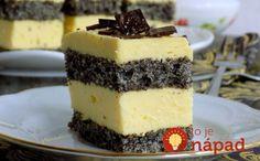 Vynikajúci dezert, ktorý spája nadýchané makové cesto a vynikajúci vanilkový krém.